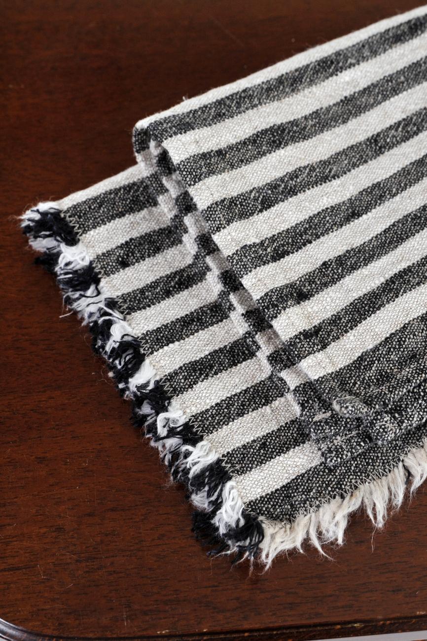 Black striped kitchen towel Benjamin