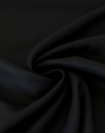 Black washed 180 gsm linen fabric