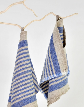 Blue striped kitchen towel Benjamin