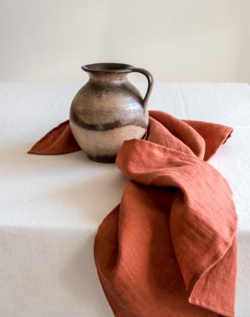 Burnt orange linen kitchen towels
