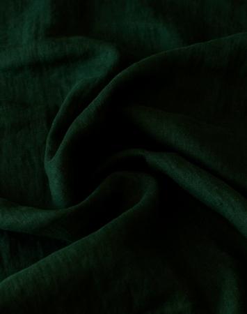Dark green linen fabric 280 cm