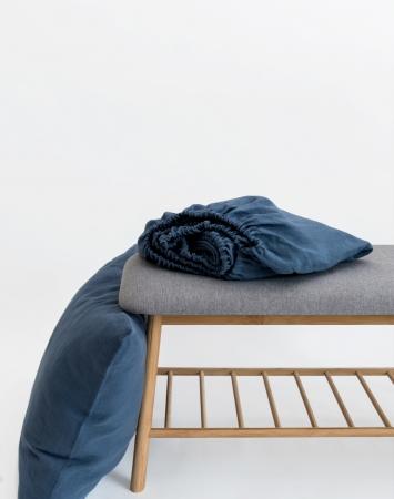 Denim blue fitted sheet