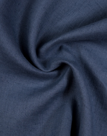 Denim blue washed 100% linen fabric