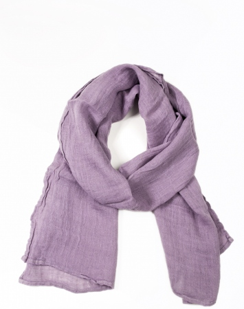 Dusty lilac linen scarf