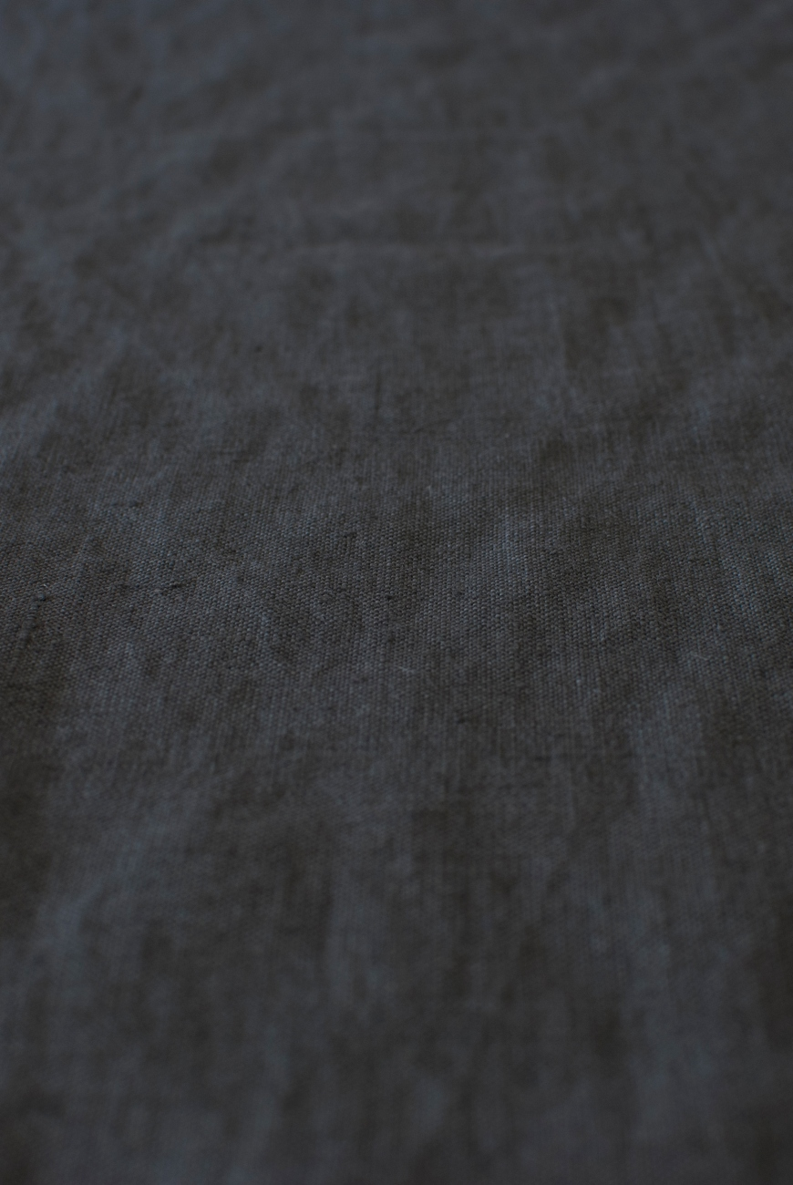 Graphite grey washed pure lightweight linen fabric