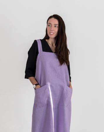 Lavender cross back apron