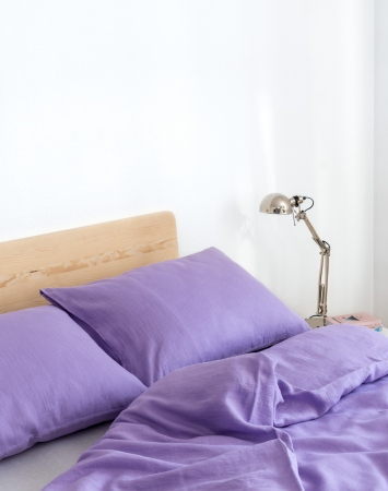 Lavender linen bedding set
