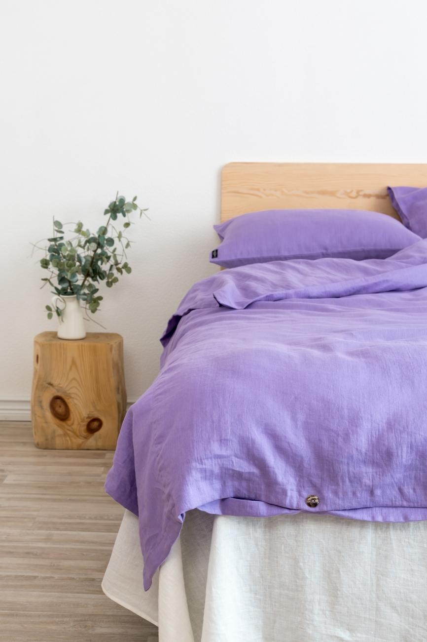 Lavender linen bedding set