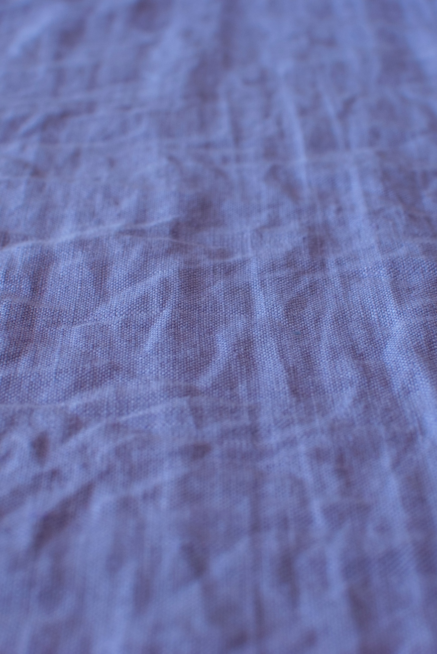 Lavender washed 100% linen fabric