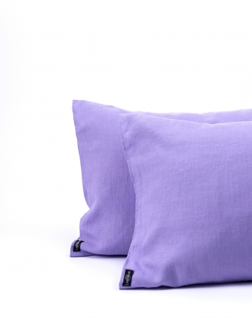 Lavender washed linen pillowcase