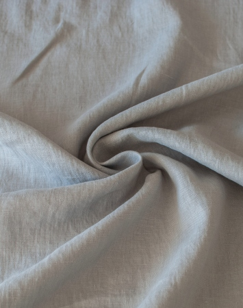 Light grey washed 100% linen fabric