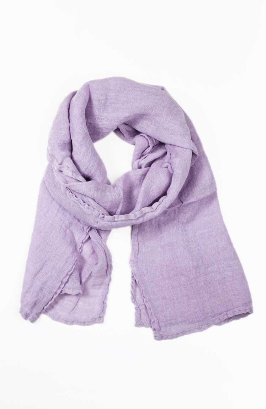 Lilac linen scarf