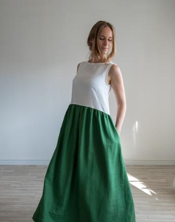Loose fit linen maxi dress