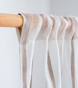 Striped linen curtains