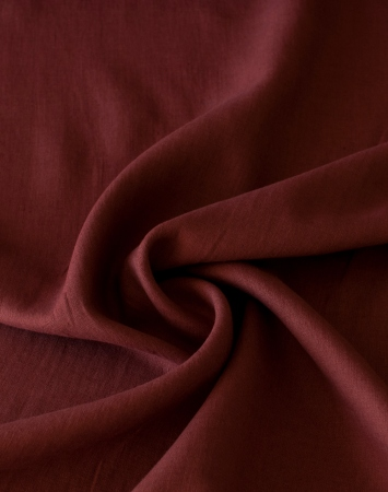 Marsala washed 100% linen fabric