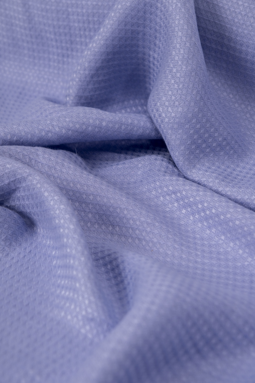 Midweight waffle linen fabric in purple lace