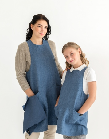 Mother & child cross-back apron set