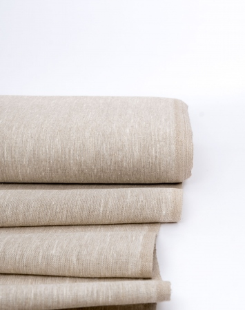 Natural heavy linen fabric