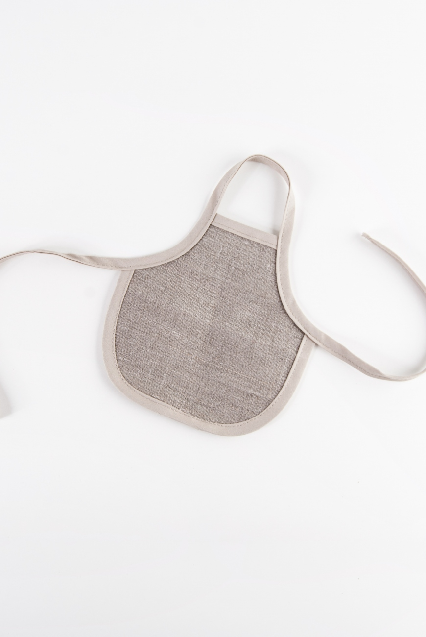 Natural linen bottle apron