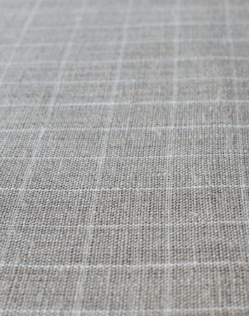 Natural middle-weight linen with white graph checks