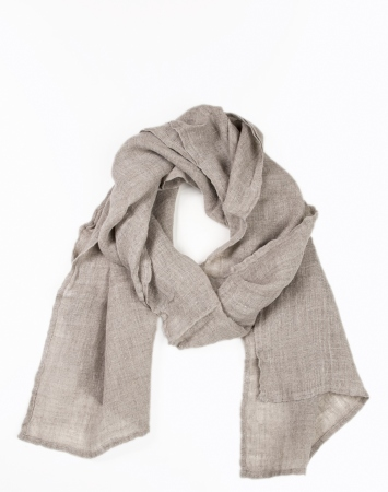 Natural soft linen scarf