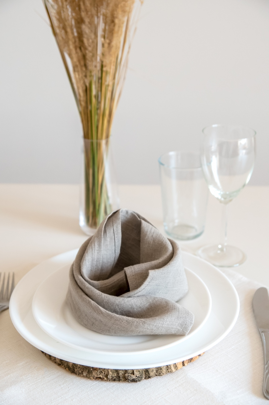 Natural washed linen napkin