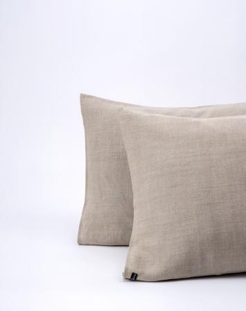 Natural washed linen pillowcase
