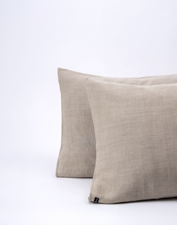 Natural washed linen pillowcase