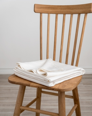 Off-white washed flat linen