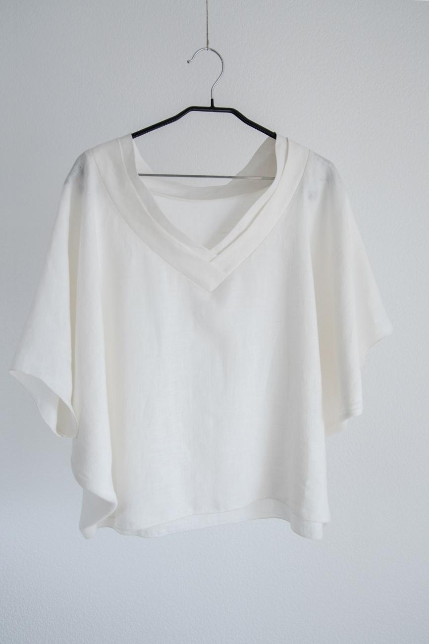 Oversized linen top