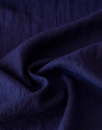 Parachute purple pure washed linen fabric