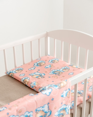 Pink baby girl bedding cotton bedding