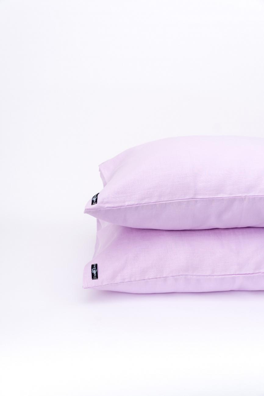 Pink lavander linen pillowcase