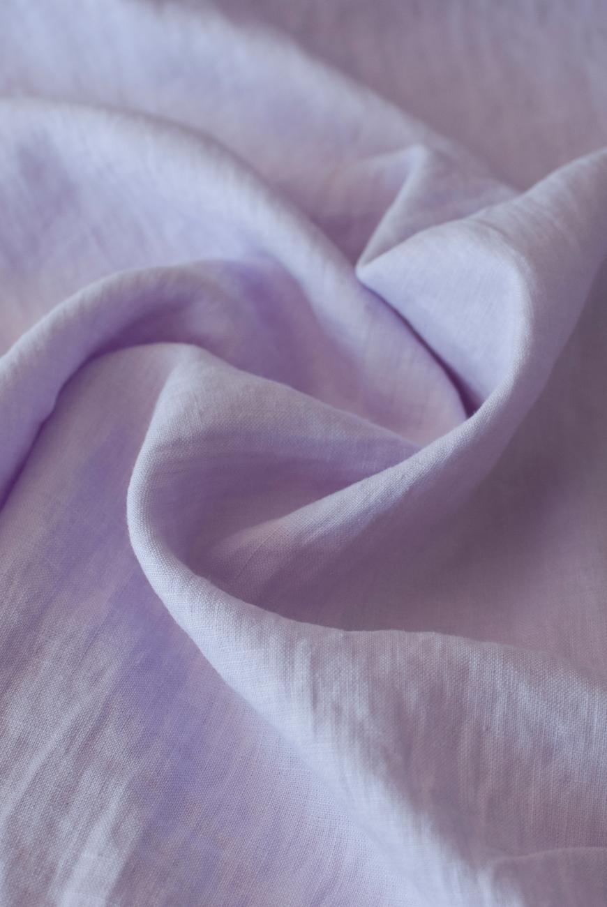Pink lavender washed linen fabric 1.6 meter