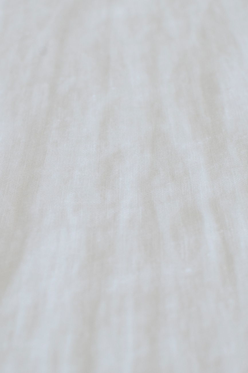 Pure off-white washed linen fabric