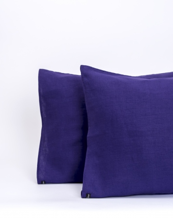 Purple linen pillowcase