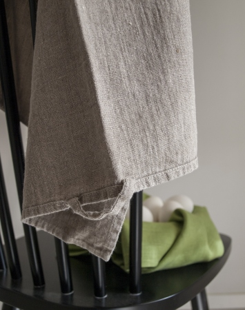 Set of 2 natural linen tea towels