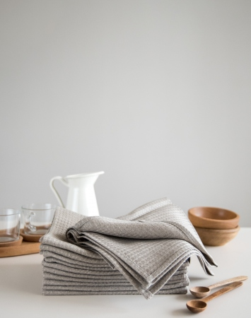 Set of 2 waffle linen tea towels