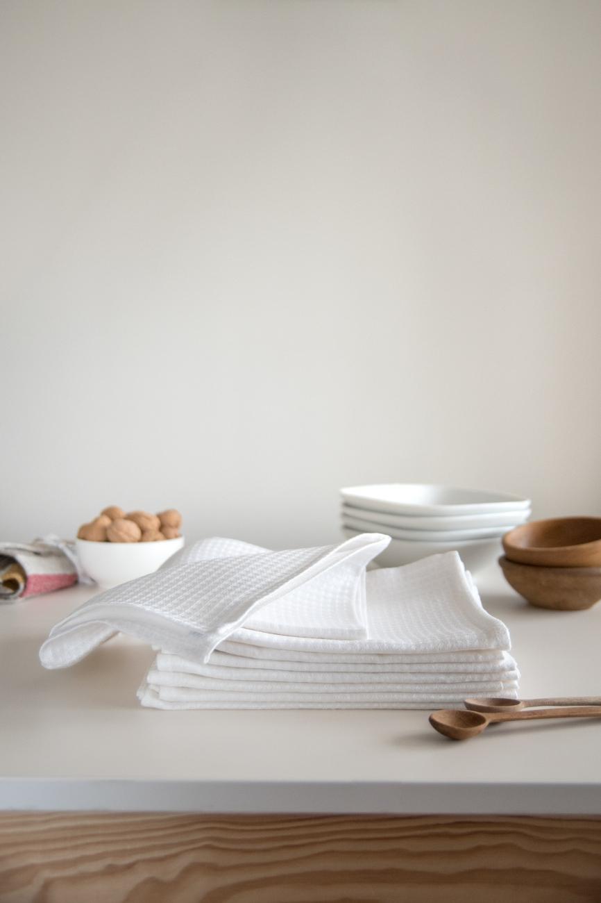 Set of 2 waffle linen tea towels