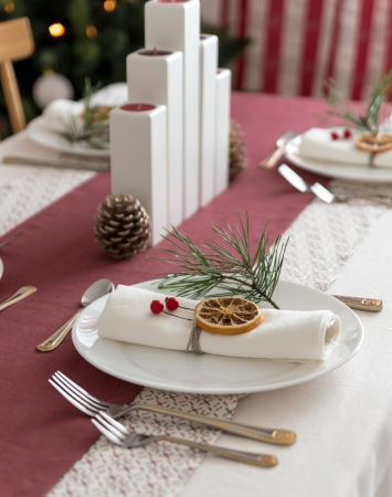 Set of white washed linen napkins