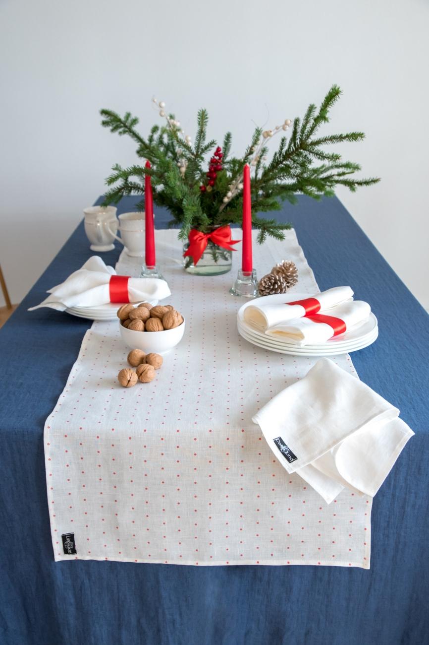 Set of white washed linen napkins