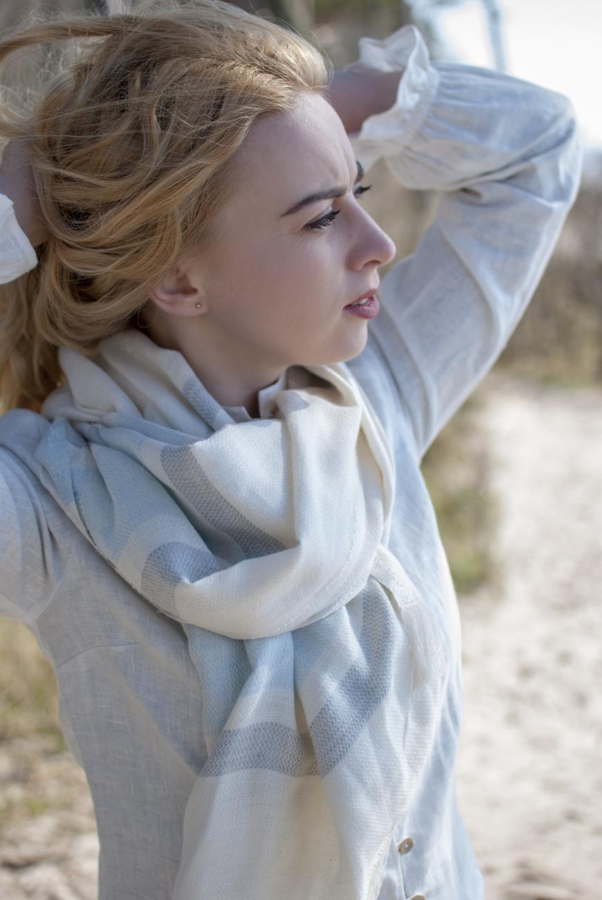 Washed linen blend hammam scarf